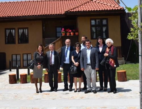 Френска делегация във Фолклорен център Чавдар